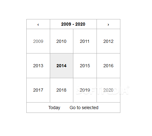React Date Picker - There's also support for a year picker included as well