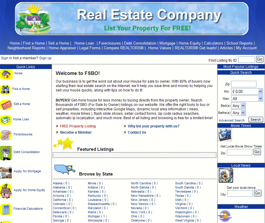 Realty Classifieds screenshot 1