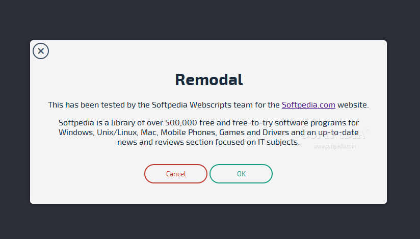 Remodal - Remodal is a simple modal windowing system that uses a flat-style design