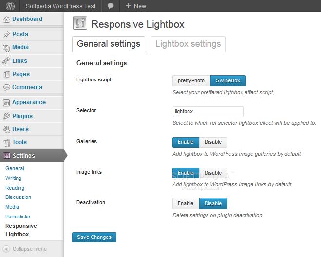 Responsive Lightbox - Responsive Lightbox allows administrators to setup images to open in a lightbox image