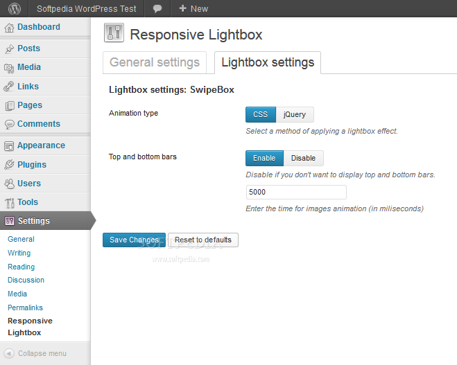 Responsive Lightbox - Responsive Lightbox can also be used to tweak SwipeBox settings