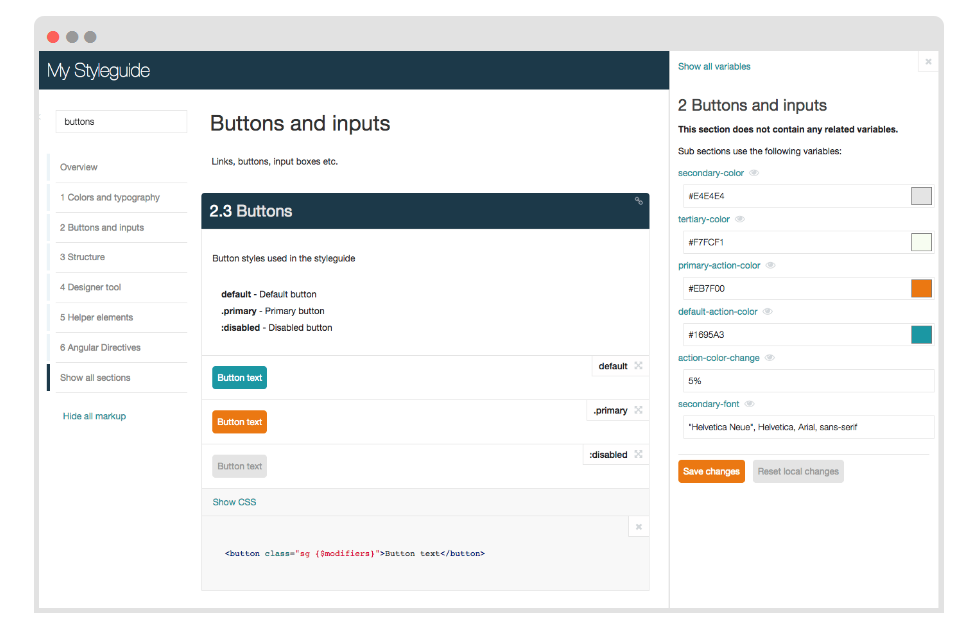 SC5 Styleguide - SC5 Styleguide lets developers generate style guides out of their CSS code comments