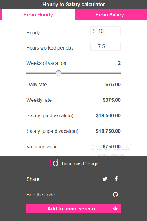 salary and hourly wage calculator download