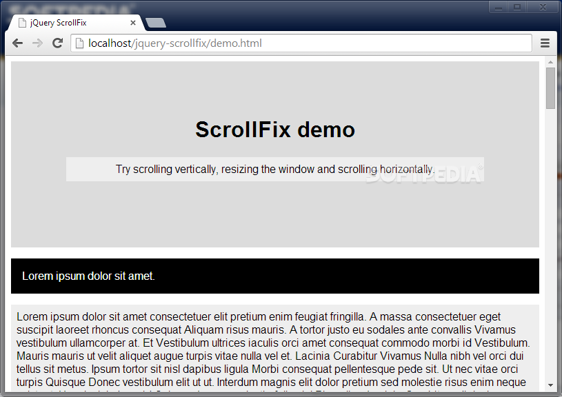 ScrollFix - ScrollFix helps developers make fixed navigational containers