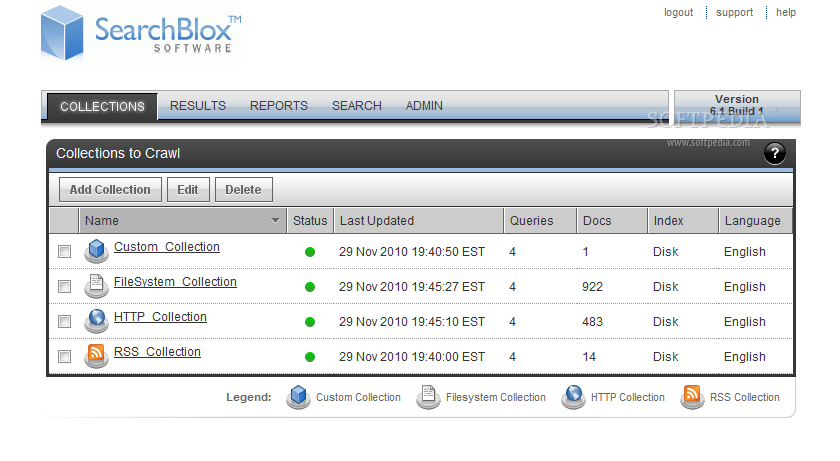 SearchBlox - SearchBlox comes with a dashboard application for easily managing the search engine