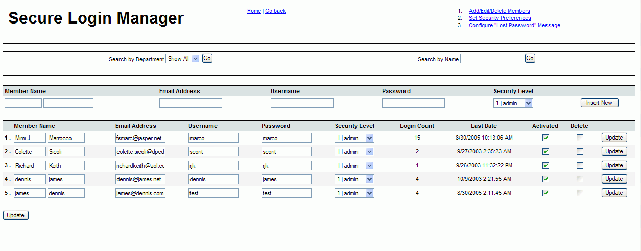 Secure Login Manager screenshot 2