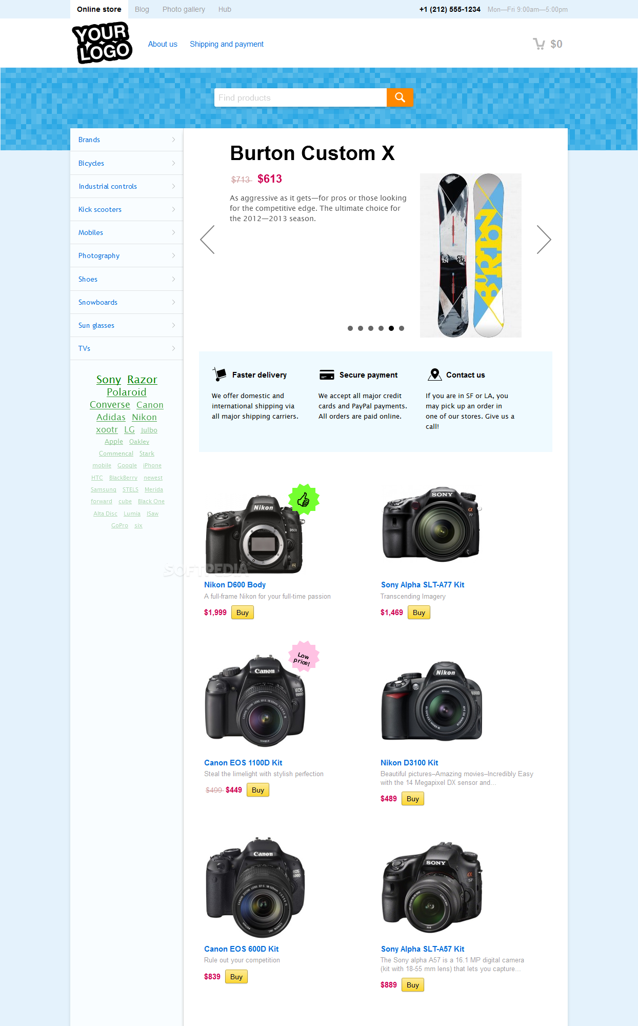 Shop-Script - The frontend provides all the pages and features you'd expect from an online store