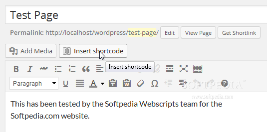 """Shortcodes Ultimate - To use the Shortcodes Ultimate plugin, users must push the """"Insert shrotcode"""" button added to the default WYSIWYG editor"""