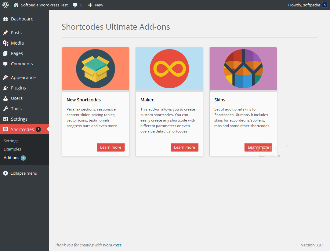 Shortcodes Ultimate - Default Shortcodes Ultimate functionality can be extended via add-ons
