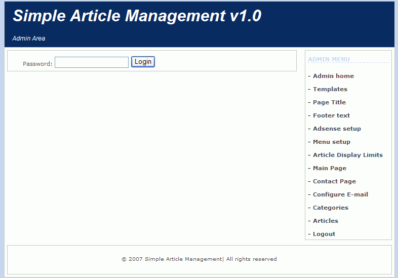 Simple Article Management screenshot 1