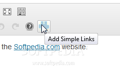 Simple Links - A WYSIWYG editor button is also included with the plugin