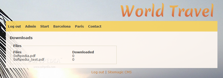Sitemagic CMS - Also as a built-in module, the Sitemagic CMS downloads center