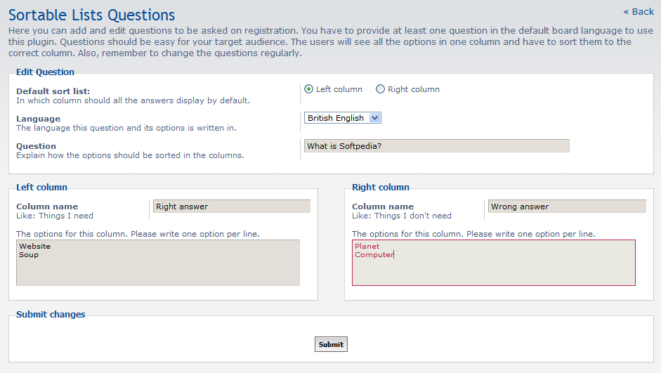 Sortables CAPTCHA Plugin screenshot 2