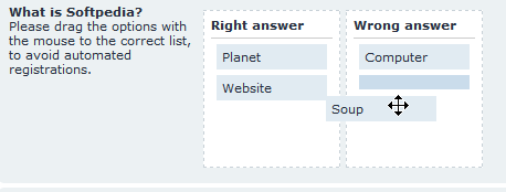 Sortables CAPTCHA Plugin screenshot 4