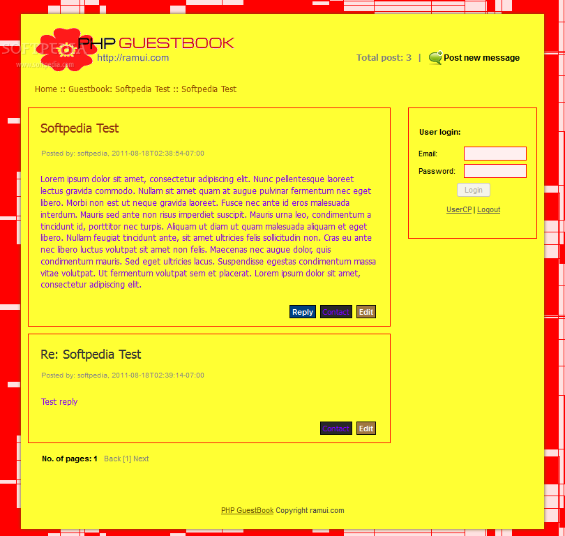 Spam free PHP GuestBook screenshot 11
