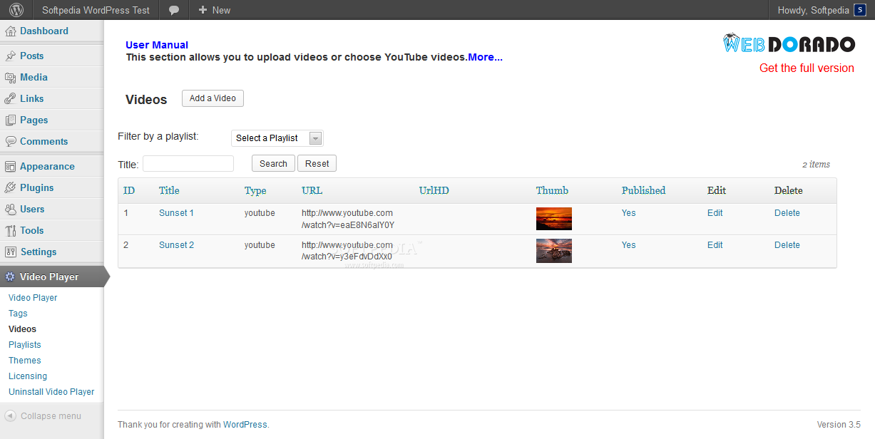 Spider Video Player (WordPress) - Managing video sources for the Spider player