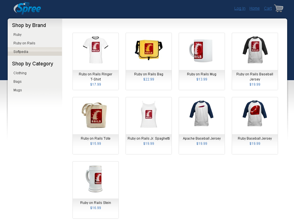 Spree - Viewing all the products from a category