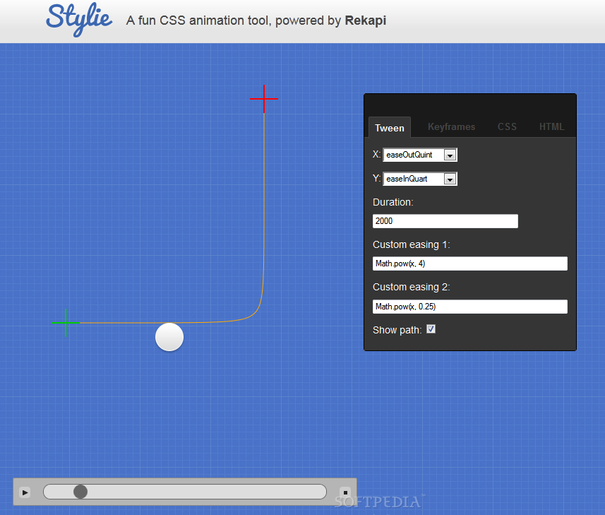 Stylie - Editing an animation and getting the animation CSS 3 code