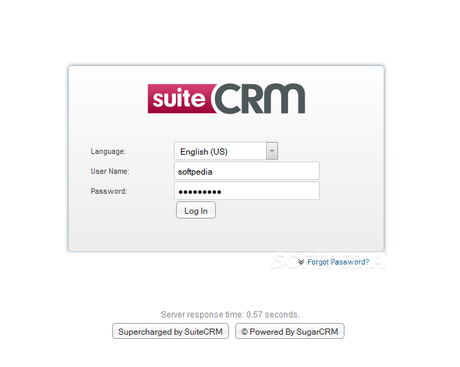 SuiteCRM - If everything went OK during the installation, admins can then login in the site's backend