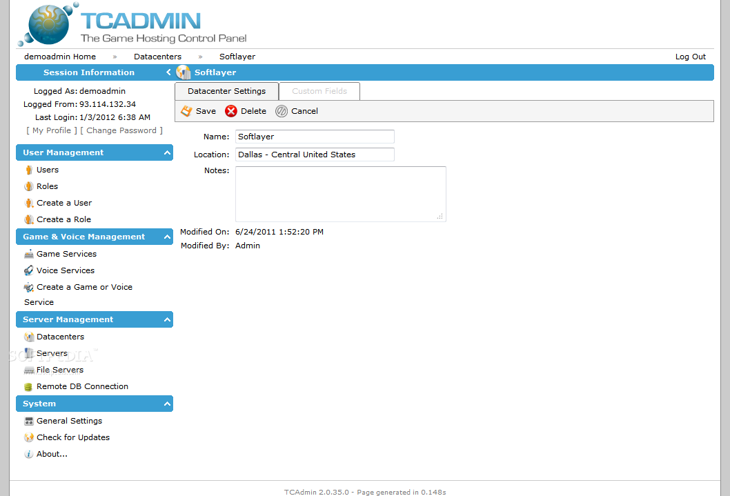 TCAdmin screenshot 18