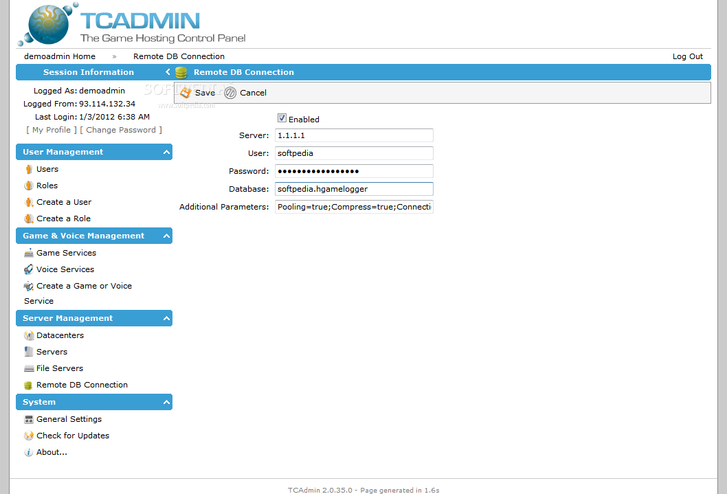 TCAdmin screenshot 21