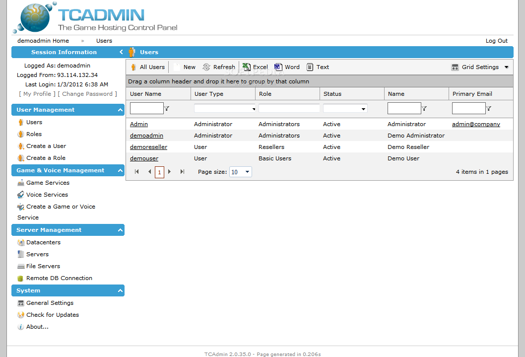 TCAdmin screenshot 3
