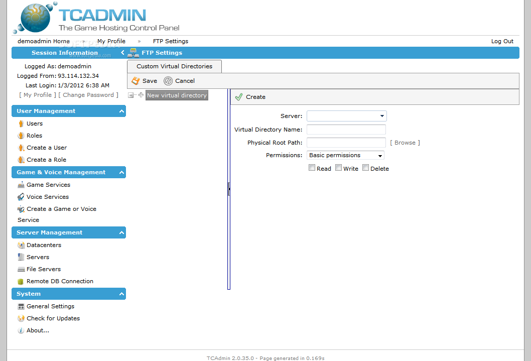 TCAdmin screenshot 4