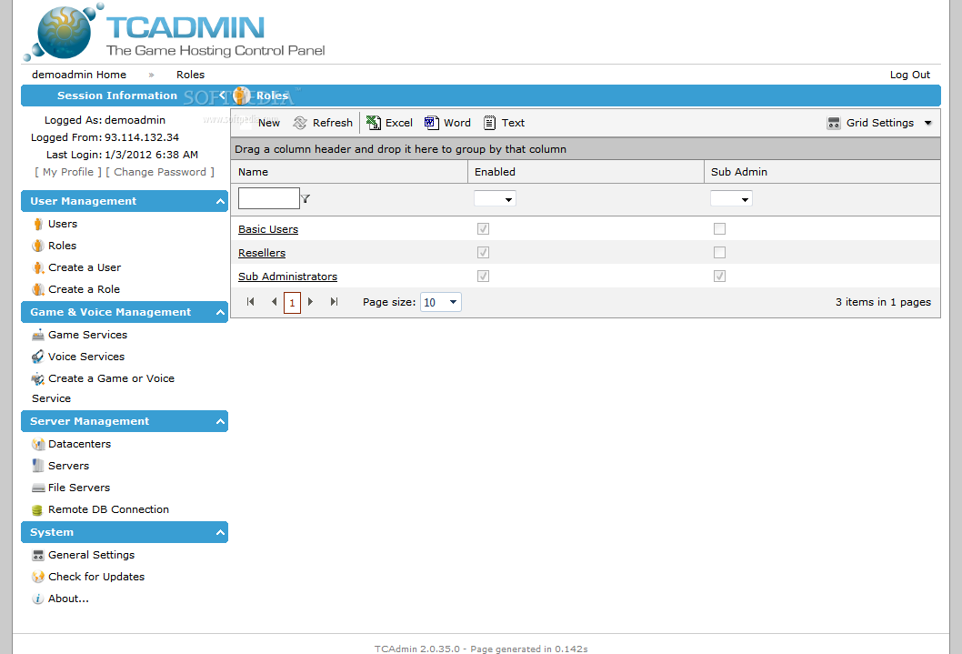 TCAdmin screenshot 5