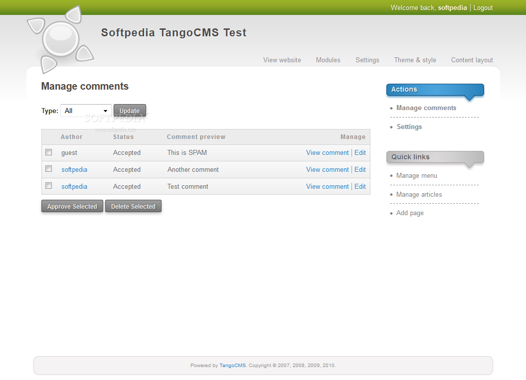 TangoCMS screenshot 13