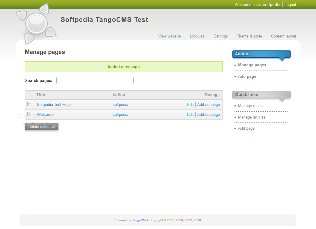 TangoCMS screenshot 5
