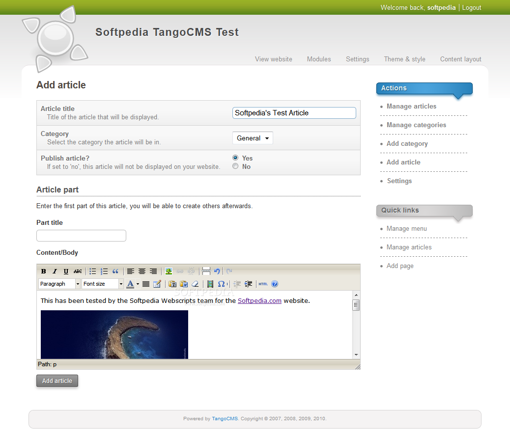 TangoCMS screenshot 6