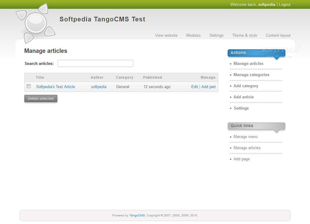 TangoCMS screenshot 7