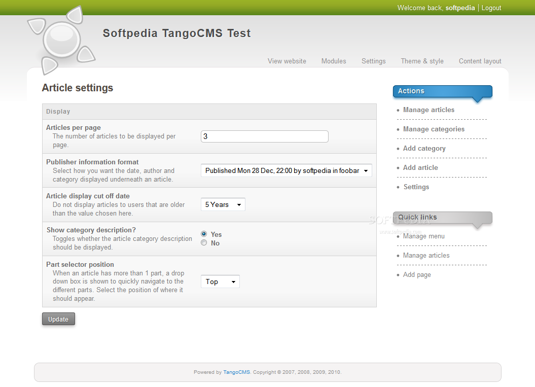 TangoCMS screenshot 9