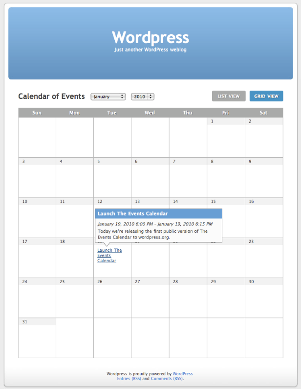 The Events Calendar - screenshot #1
