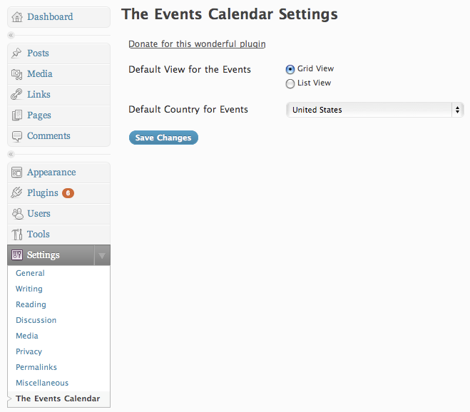 The Events Calendar - screenshot #4