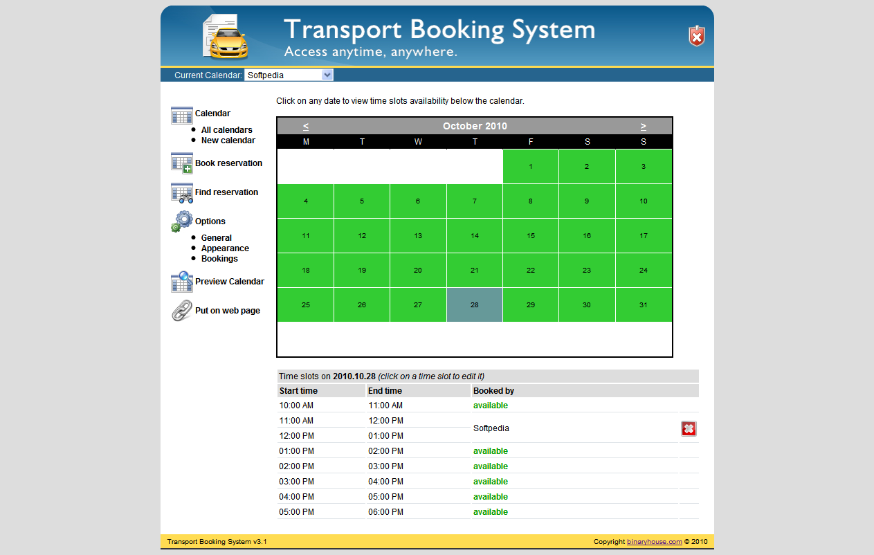 time slot booking system