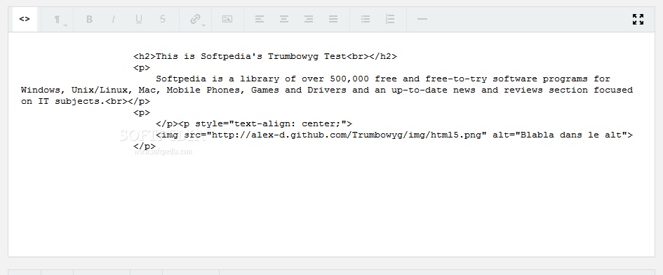 Trumbowyg - All content formatted via Trumbowyg is styled using HTML code