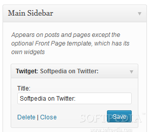 Twitget - A sidebar widget is available for showing a person's recent tweets