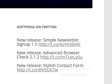 Twitget - Twiget will beautifully display recent tweets from a Twitter account in the sidebar