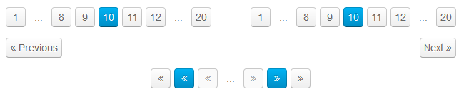 UIkit - Various pagination controls are available with UIkit