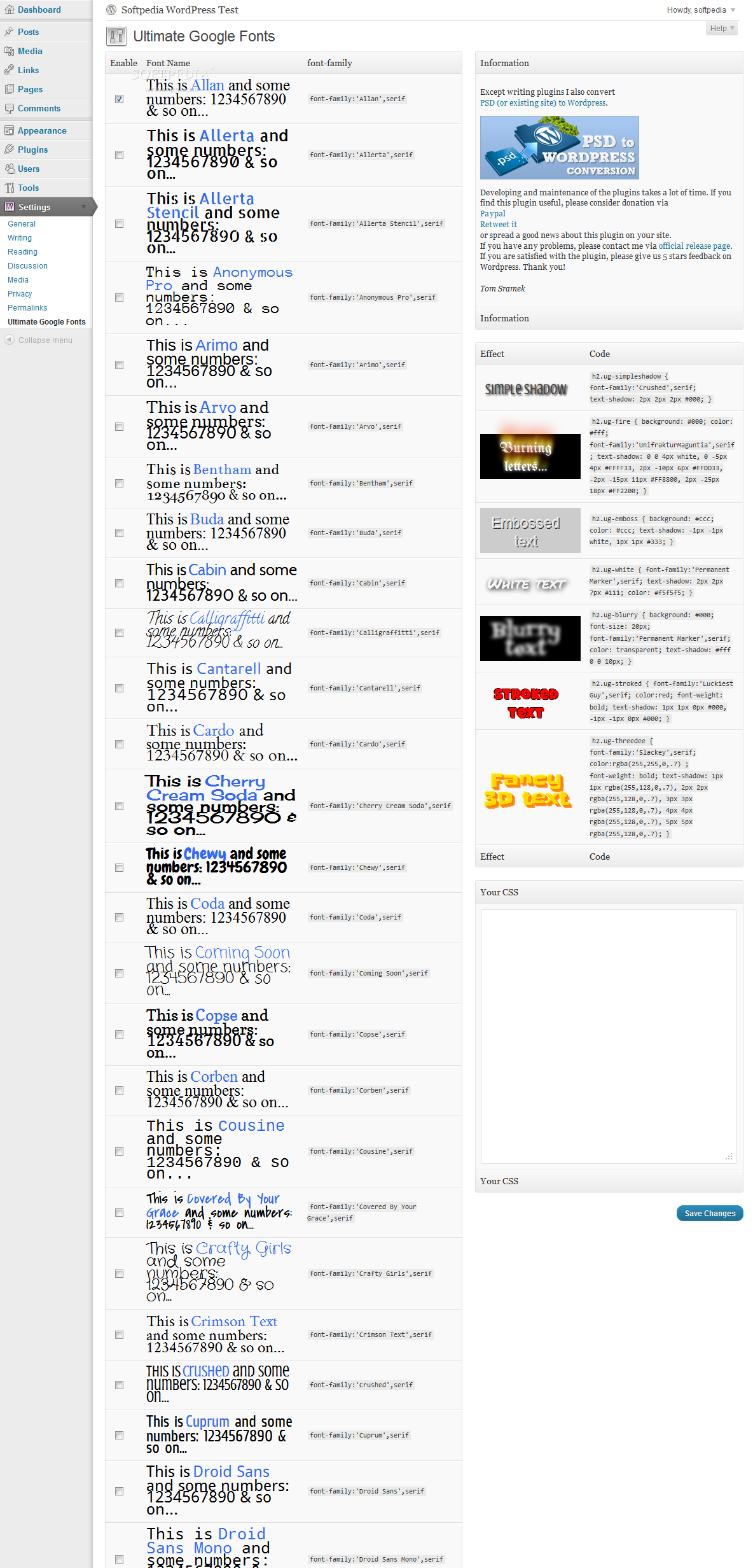 Ultimate Google Fonts screenshot 1