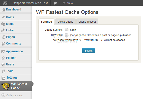 WP Fastest Cache - WP Fastest Cache provides a caching system for WordPress sites, geared mostly on speed and simplicity
