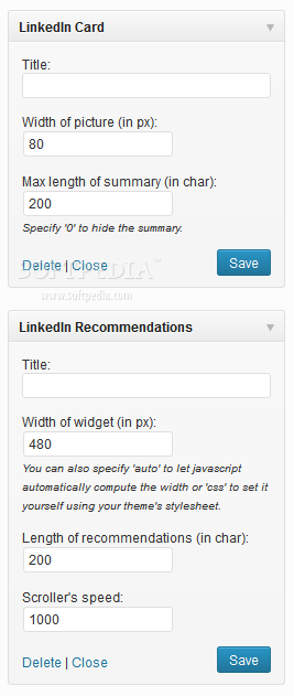 WP LinkedIn - Sidebar widgets also ship out with the WP LinkedIn plugin