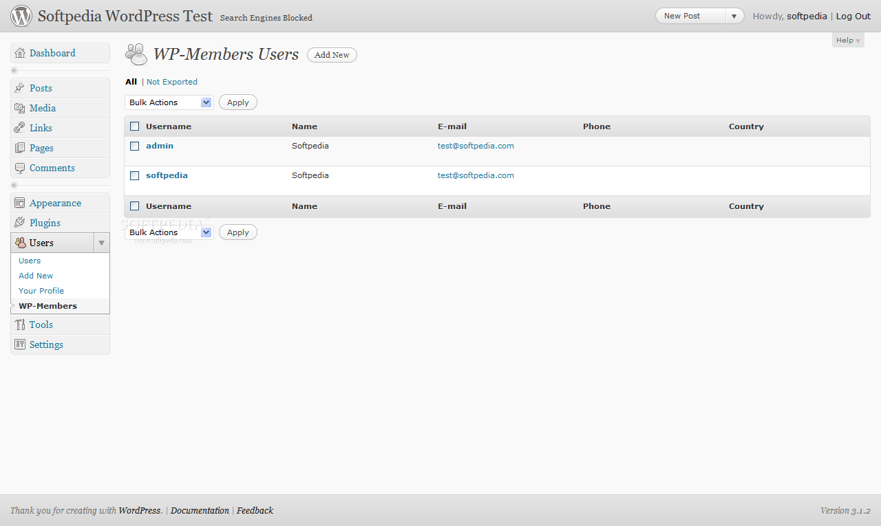 WP-Members screenshot 4