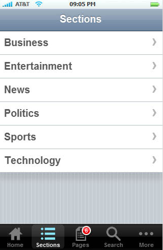 WPapptouch screenshot 3