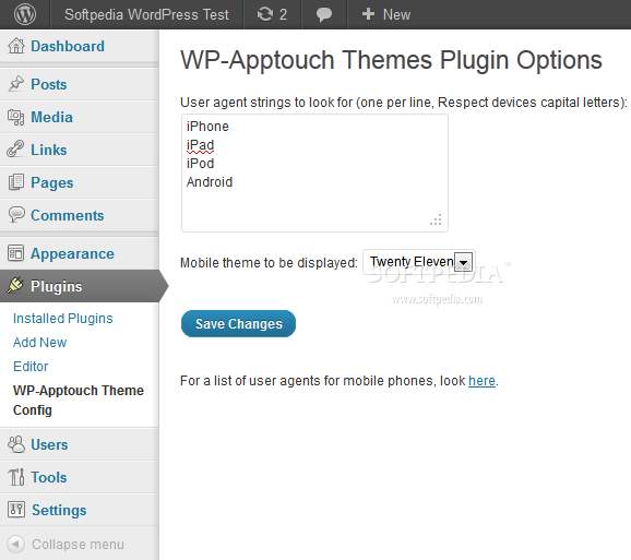 WPapptouch screenshot 4