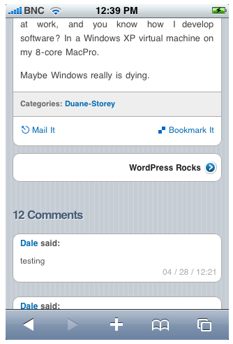 WPtouch screenshot 4