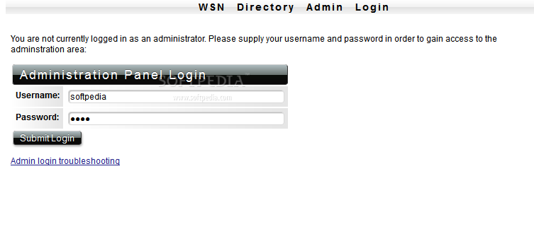 WSN Directory - A password-protected admin panel is also included with every WSN Directory installation