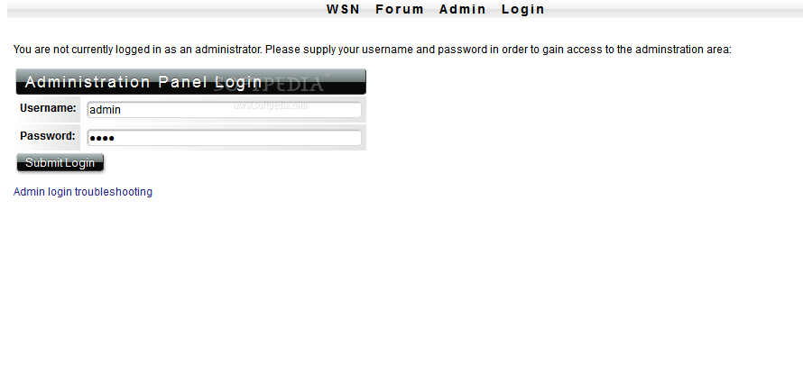 WSN Forum - The admin panel is password protected and includes all the feature you need