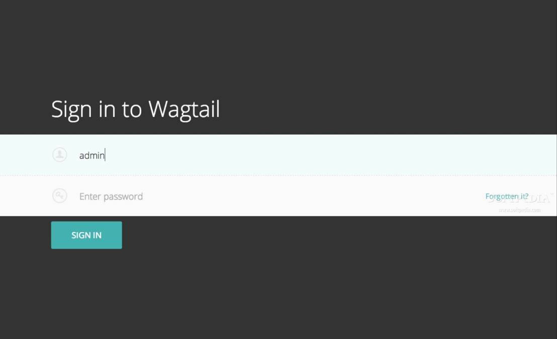 Wagtail - As with all CMS scripts, the Wagtail admin is password protected